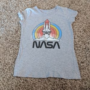 NASA Short Sleeve Shirt, Kids, Large, Gray